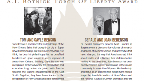 Torch of Libery Dinner Honorees
